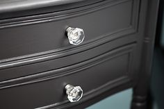 """""""forbidden 09D7"""" easy care platinum paint and primer... from true value.  this is perfect for our small dresser."""