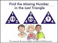 Number Riddles: Find the Missing Number in the Last Triangle | BhaviniOnline.com