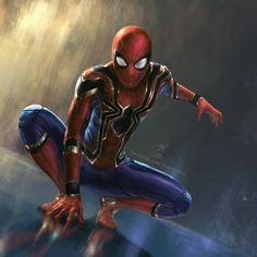 """2,179 Likes, 48 Comments - THE KNOTT (@the_knott) on Instagram: """"The Iron Spidey!!?? - Digitalpainting *feel free to leave a comment. Hornestly, Im not sure for the…"""""""