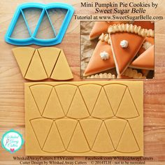 Mini Pumpkin Pie Cookie Cutter & Fondant Cutter for Sweet Sugar Belle's Cookie Design