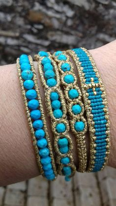Simply beaded bracelet boho style macrame jewelry perfect gift