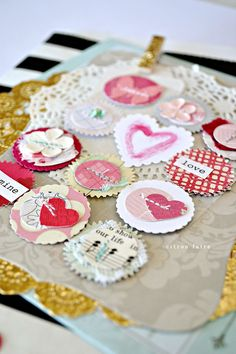 Love, Paper Sticker Embellishments. Tara.