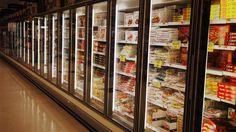 Frozen foods in a supermarket