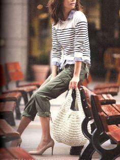 画像 : ミリタリーブームの今だからカーキのパンツを履きこなそう♡ - NAVER まとめ