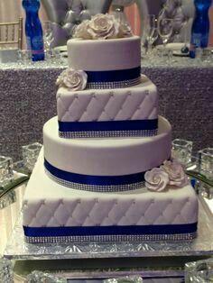wedding cakes blue Wedding Photography Tips Camera Settings Navy Blue Wedding Cakes, Square Wedding Cakes, Fall Wedding Cakes, Beautiful Wedding Cakes, Wedding Cake Designs, Beautiful Cakes, Amazing Cakes, Wedding Blue, Royal Blue Weddings