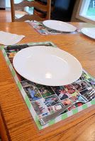 Photo Personalized Place Mats - These beautiful laminated photo collages are great gifts for kids and adults alike. I can even see someone making a pet placemat for furry friends.