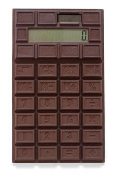 Kikkerland Design » Products » Chocolate Scented Calculator made with flexible silicone. Give it to your (least) favorite chocoholic nerd and watch the suffering ;)