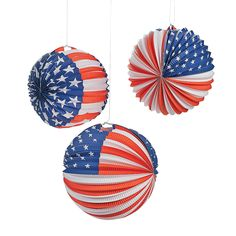 Patriotic Balloon Lanterns - OrientalTrading.com  would do just stars or just stripes ...