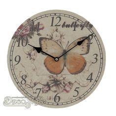 Wandklok Butterfly (