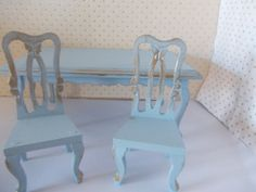 dolls houseTwo wooden chairs painted by SmallthingsbyAmanda