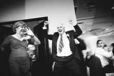 I don't think I've ever seen mom and dad make such an excited entrance to a reception! Michael B. Photo in Montreal is responsible for the capture.