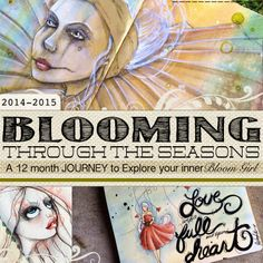 Jamie Dougherty Designs, Art Journal, Mixed Media, Bloom Girls