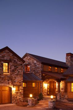 A cozy home with a rustic Tuscan exterior would be my dream! C Lazy U Ranch.