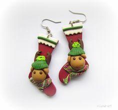 Christmas earrings by Sandra Plavsic.  So cute!