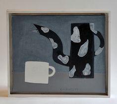 Klaas Gubbels, `Het witte kopje`, olieverf op doek, 1995 | Veilingvinden.nl