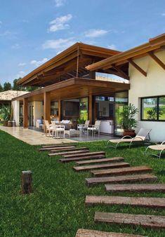 Precious Tips for Outdoor Gardens - Modern Future House, My House, Tropical Architecture, Architecture Design, Outdoor Walls, Outdoor Living, Villa, Backyard, Patio