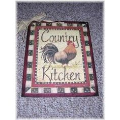 Country Kitchen Rooster Wooden Wall Art Sign Farm Decor. $11.99, via Etsy.