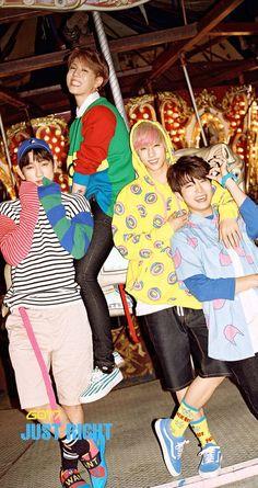 Mark, Yugyeom, Youngjae and Yinyoung