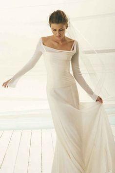 Lovely Dresses For Second Weddings - Best Wedding Gowns Second Marriage Dress, Second Wedding Dresses, Colored Wedding Dresses, Bridal Dresses, Wedding Gowns, Second Weddings, Wedding Bride, Simple Elegant Wedding Dress, Minimal Wedding Dress