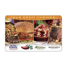 Brinker Gift Card Collection, (gift card, gift cards, gift certificate, pancakes, outback steakhouse, restaurant, restaurants, food, ihop)