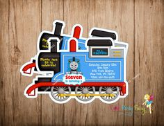 52 best thomas invitations images on pinterest trains birthday thomas the train birthday invitation thomas by cutepartyfairy solutioingenieria Image collections