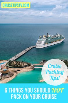 Packing for a cruise can get a little confusing. There's tons of information out there that can lead you to believe you need everything that will fit in your suitcase, but you really don't. As cruise ships get more high-tech, and stateroom designs get better and better, you'll probably find you need less stuff to keep you comfy on the high seas. So, here's our list of 6 things you can leave behind. Packing List For Cruise, Carry On Packing, Cruise Vacation, Cruise Destinations, Cruise Outfits, Best Cruise, Alaska Cruise, Cruise Ships, Caribbean Cruise