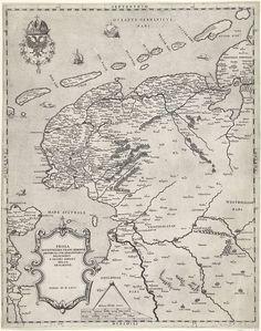 Rare The earliest Lafrerischool map of Holland Jan van