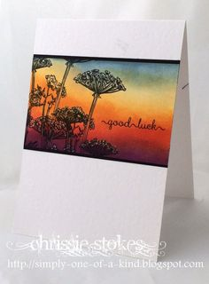 The colour choice at Less is More  this week is   SUNSET   What a lot of colours that entails!   I have done a couple of cards for this ch...