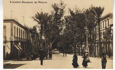Almería. Boulevard del Príncipe Alfonso (actual Paseo de Almería) (1900-1910?)