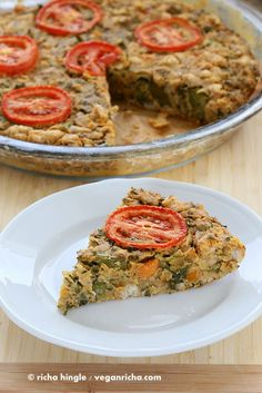 Soy-free Broccolini White Bean Frittata. Glutenfree Vegan Recipe | Vegan Richa