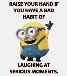 Minions one of the cutesiest things ever they are funny . Some of the minions funny quotes are below . Don't forget to share with friends………. Humor Minion, Funny Minion Memes, Crazy Funny Memes, Minions Quotes, Really Funny Memes, Haha Funny, Funny Jokes, Hilarious, Funny School Jokes