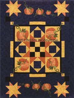 Simply Pumpkins quilt pattern at Nestlings by Robin