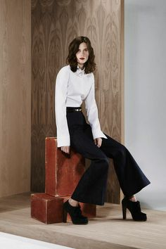 Derek Lam Pre-Fall 2014, wide leg trousers