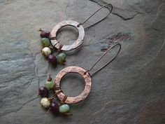Beads attached using a half hitch, from Kristy Abner on Earrings Everyday