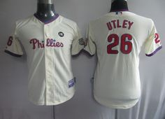 044e65077 Chase Utley Grey Youth Jerseys  18.99 This jersey belongs to Chase Utley