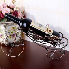 Wrought Iron Wine Rack Creative Bicycle Wine Bottle Holder Shelf Vinho Rejilla Para Copas Kitchen Accessories Decoration Racks