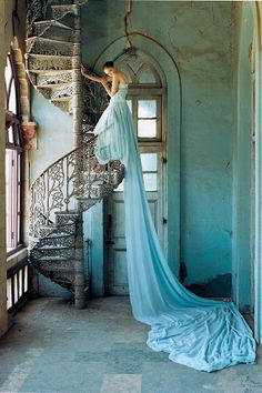 || Stairs Obsession ||  Title: Lili Cole Artist: Tim Walker