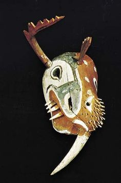 Kuskokwim Yupik mask depicting a walrus and another creature, c. 1875; in the National Museum of the American Indian, George Gustav Heye Center, Smithsonian Institution, New York City. Credit: Courtesy of the Museum of the American Indian, Heye Foundation, New York