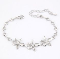 Korean fashion Bauhinia Personality Charm Bracelet!#1439
