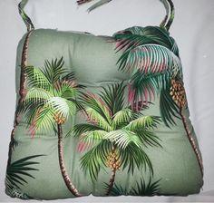 Tropical Chair Pads Waikiki Palms Sage. Bar Stool CushionsTree ...