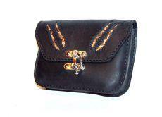 Kígyóbőr betétes bőr övtáska, egyfakkos, horgas csatos, sötét - leather belt bag Leather Belt Bag, Zip Around Wallet, Bags, Handbags, Bag, Totes, Hand Bags