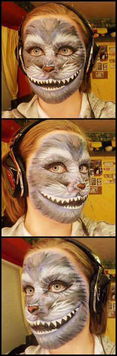 Cheshire Cat special effects makeup. -Molly King