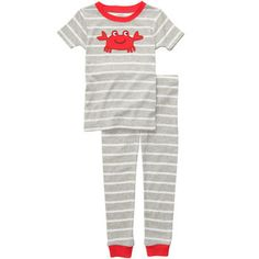 Snug-Fit+Cotton+2-Piece+Pjs Kids Pajamas, Pjs, Pajama Set, Pajama Pants, Cotton Sleepwear, Snug Fit, Fitness, Fashion, Moda