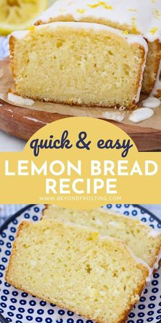 You'll love this easy Lemon Quick Bread Recipe. It's soft, moist and packed with lemon flavor. It's made in one bowl with three simple steps. #lemonbread #quickbreadrecipe Breakfast Bread Recipes, Quick Bread Recipes, Easy Bread, Baking Recipes, Breakfast Bites, Cookie Recipes, Fun Desserts, Delicious Desserts, Dessert Recipes