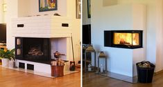 gammel murpeis til effektiv og moderne peis på I See Fire, Work Surface, Modern Kitchen Design, Glass, Home Decor, Stove, Google, Modern, Decoration Home