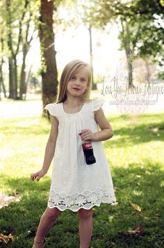 White Vintage Baby Doll Dress