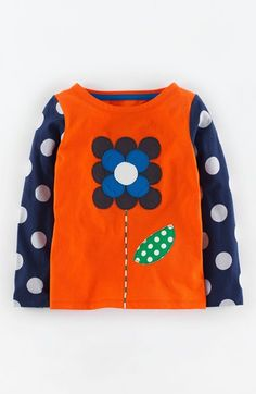 Free shipping and returns on Mini Boden 'Retro Hotchpotch' Tee (Toddler Girls, Little Girls & Big Girls) at Nordstrom.com. Long, printed sleeves create a bold layered look on this adorable tee cut from soft, pure cotton and appliquéd with vibrant retro graphics.