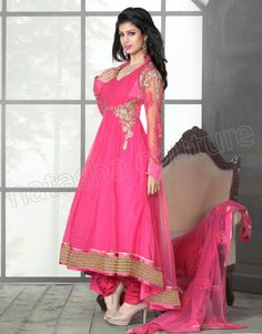 #Designer Anarkali #Pink #Indian Wear #Desi Fashion #Natasha Couture #Indian Ethnic Wear # Salwar Kameez #Indian Suit