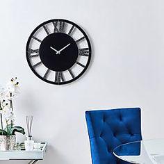Glitter Mirrored 50cm Wall Clock Silver   Dunelm Silver Wall Clock, Mirror Wall Clock, Iphone Wallpaper Glitter, Iphone Backgrounds, Desktop Wallpapers, Wallpaper Backgrounds, Glitter Mirror, Glitter Walls, Wall Clock Brands