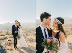 Boho Winter Desert Wedding - such beautiful shots! #weddingphotography